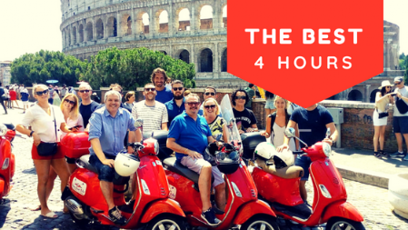 the best of rome vespa tour